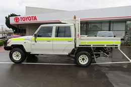 Toyota LC70 Series Dual Cab ready for work - Side