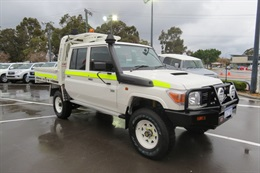 Toyota LC70 Series Dual Cab ready for work - Front