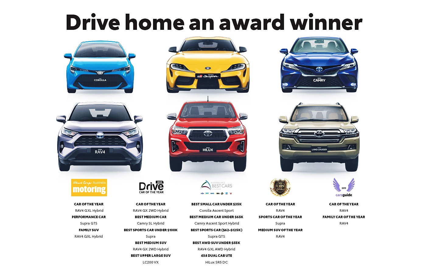 Toyota Has Dominated This Years Car Awards New Town Toyota